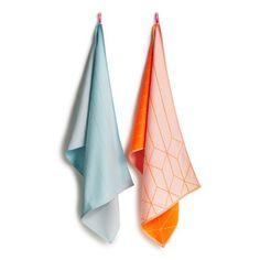 S&B TEA TOWELS Geschirrtücher 2er Set Hanging Grid HAY