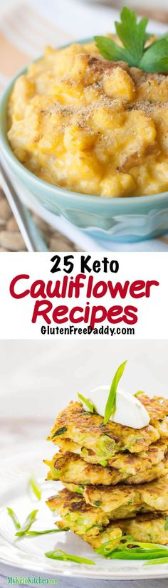 I used to think I hated cauliflower, until I did the keto diet and tried them out of desperation - and now I LOVE cauliflower. I want to try all these Keto cauliflower recipes!