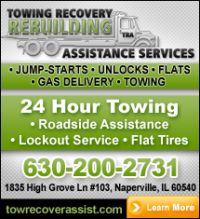 Need a towing service in Plainfield, Naperville, Bolingbrook, or any surrounding Chicago South West suburbs? Check out some of our towing company affiliates. Oswego Illinois, Lisle Illinois, Plainfield Illinois, Naperville Illinois, Bolingbrook Illinois, Wrecker Service, Flatbed Towing, Towing Company