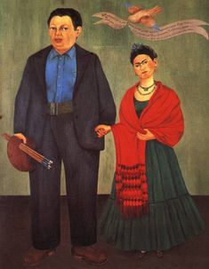Frieda y Diego: I saw this painting in person today at the SFMOMA. I have been a fan of Frieda's since 11th grade and was not prepared for seeing the beauty of her artwork in person. She lived such a sad and full life. I can only hope that I pursue things the way that she did even with Diego in the way.