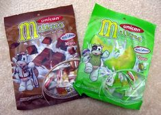 Milkita Candies by Unican. An Indonesian candy with a chewy texture and milky melon flavor. Asian Market, Snack Recipes, Snacks, Pop Tarts, Candies, Lunch Box, Treats, Texture, Food