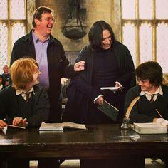 Snape smiling? Hahahhahaha