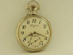 Visitate il mio negozio: http://www.ebay.it/sch/jumanantic/m.html Antico/Vintage Longines 1910 Orologio da taschino di lavoro
