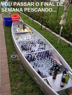 """""""Vou passar o final de semana pescando""""..."""