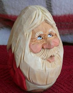 Hand carved Santa. Awesome!! Carved by john nelson. #christmas #santa