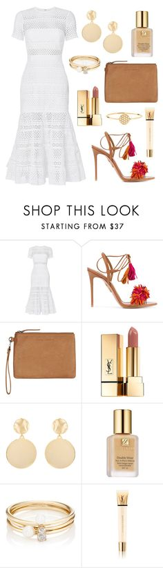 """Tassels"" by tasha-m-e ❤ liked on Polyvore featuring self-portrait, Aquazzura, Status Anxiety, Yves Saint Laurent, Mounser, Estée Lauder, Loren Stewart and AND"