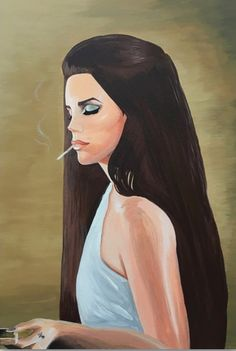 Lana Del Rey by Bradley Miller Divas, Art Anime, Homemade Black, Video Games For Kids, Dinner Recipes For Kids, Female Singers, Heart Art, Queen, Easy Drawings