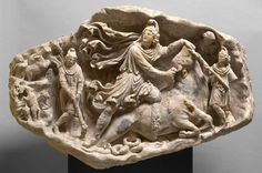 sculpture/  relief: Mithras  Roman, Middle Empire  Second Second half Century AD  marble