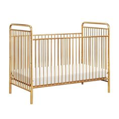 Million Dollar Baby Classic Abigail Convertible Crib - Vintage Gold Antique Crib, Vintage Crib, Gold Nursery, Nursery Crib, Modern Nursery Decor, Nursery Design, Nursery Ideas, Convertible Crib, Baby Cribs