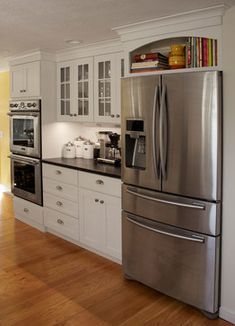 Cabinet Over Refrigerator Design Ideas, Pictures, Remodel And Decor