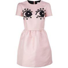 b9a01c7db0d22 Redvalentino Novelty Eye Print Dress found on Polyvore featuring dresses