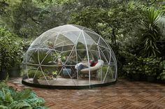 Garden Igloo — brilliant way to enjoy the backyard in all weather.