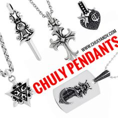 Chuly PendanChuly Pendants www.chulyakov.com #chuly #chulyakovnewyork #chulyakov #designer #designerjewelry #designeraccesories #gothicjewelry #bikerjewelry #style #fashion #silver #blackdiamonds #jewelry #hiphop #hiphopjewelry #rock #rockjewelry #rocknroll #americandesigner #cross #starofdavid #heart #poniard #dagger #dogtag #bling #madeinusats