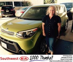 https://flic.kr/p/M93p86 | Happy Anniversary to Donna on your #Kia #Soul from Jerry Tonubbee at Southwest Kia Mesquite! | deliverymaxx.com/DealerReviews.aspx?DealerCode=VNDX