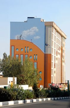 Iranian artist and designer Mehdi Ghadyanloo is brightening up the city of Tehran one wall at a time. With the blessing of the municipality, Ghadyanloo and his mural-painting company Blue Sky Painters transform blank, gray walls into amazing large-scale works of art.