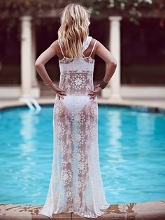 Free People Queen of Flowers Maxi Slip at Free People Clothing Boutique