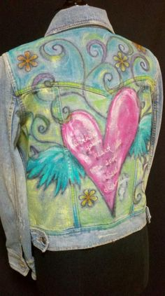 What to do with my old jean jacket. Let my kids doodle on it!
