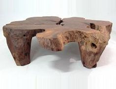 Mesa de Centro de Tronco Dupla de Madeira ANGRA » Mesas de Centro » Produtos » Residual Móveis - design | sustentabilidade | arte