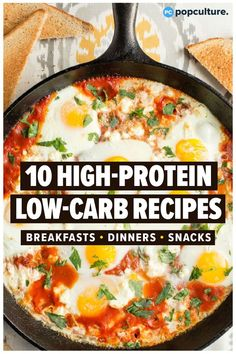 Effortlessly slim down with these high-protein, low-carb recipes. These meals are packed with filling meats, veggies, and healthy fats, making them great options for anyone on a low-carb diet. Low Carb High Protein, High Protein Dinner, High Protein Meal Prep, Low Carb Diets, Low Fat Low Carb, High Protein Breakfast, Low Carb Lunch, Breakfast Smoothies, High Carb Meals