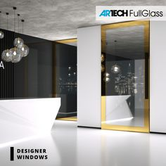 Glamour modern front door, painted glass, gold color House Entrance, Entrance Doors, Glass Front Door, Glass Door, Modern Front Door, Window Design, Black House, Glamour, Windows
