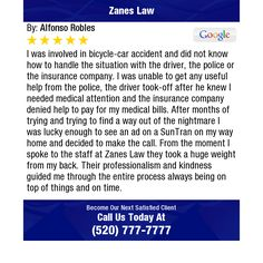 I was involved in bicycle-car accident and did not know how to handle the situation with...