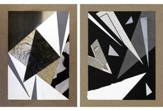 first homework assignment is the grayscale collage - collages composed of black, white and gray shapes