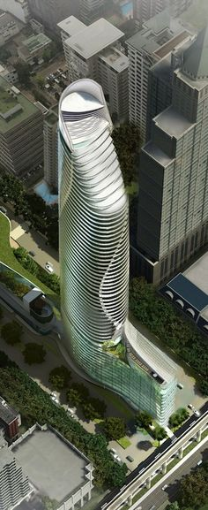 Magnolias Ratchaprasong Tower, Bangkok by Gensler Architects :: 60 floors, height 238m