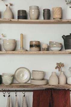 we are obsessed by handmade ceramics, so had to build a set of suitably rustic kitchen shelves from some old wood to display them on. wood First Light Ceramic Tea Bowl Rustic Kitchen, Kitchen Dining, Kitchen Decor, Enjoying The Small Things, Tea Bowls, Kitchen Shelves, Kitchen Display, Ceramic Plates, Ceramic Pottery