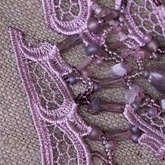 Velvet Violet Necklace in free form technique with by FableBubble