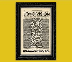 Joy Division Art Print - Unknown Pleasures Rock Band Ian Curtis Poster Dorm Room Print Music Star Gift Wall Decor Poster Dictionary Print