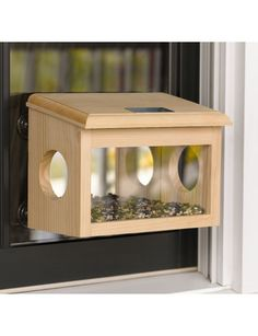 Mirrored window birdfeeder - place in a window somewhat near other feeders and they'll get the hang of it in no time! Exclusively at Gardener's Supply Co.