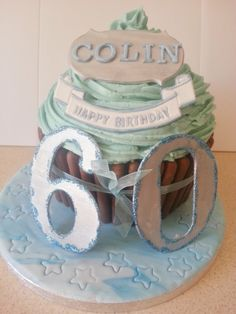 60th Birthday Giant Cupcake