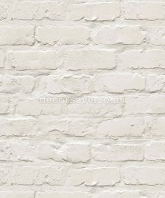 This white brick design will transform any room of your home to give it a trendy, industrial or rustic look. This is a more creamy white than our other painted brick effect wallpaper. Fake Brick Wallpaper, Diy Wallpaper, Embossed Wallpaper, White Wallpaper, Bedroom Wallpaper, Designer Wallpaper, Painted Brick Walls, White Brick Walls, White Bricks