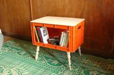 Möbelstück aus alte Pfandkiste