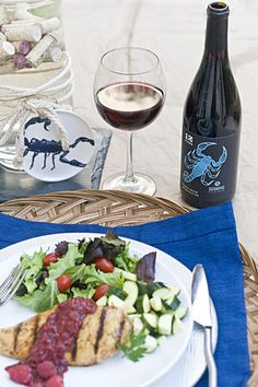 Scorpio Pinot Noir by 12 Signs Wine — food pairing with a raspberry balsamic chicken