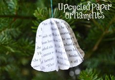 Upcycled Paper 3D Christmas Ornaments - great for using all those holiday catalogues!