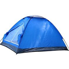 Generic Daily Waterproof Nylon 4 Person Tent Blue *** Details can be found by clicking on the image.