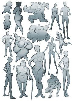 I think this is so interesting. Body proportion. Shapes.
