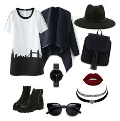 """Black beauty"" by nyankopro on Polyvore featuring мода, I Love Ugly, Forever 21, Charlotte Russe и Lime Crime"
