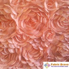 """Pink and Dusty Rose 60"""" Wide Premium Satin Rosette Petal Fabric By The Yard"""