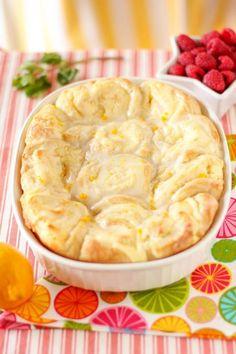Lemon Cheesecake Morning Buns with cream cheese filling  lemon zest glaze