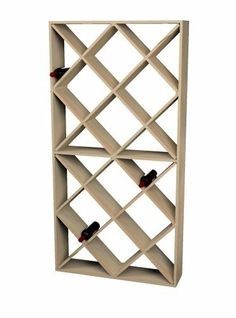 Wine Cellar Innovations Rustic Pine Solid Diamond Bin Wine Rack for 208 Wine Bottles, Unstained by Wine Cellar Innovations. $320.26. 72.00 -Inch high x 36.50 -Inch wide x 8.75 -Inch deep. Rustic Pine and Unstained. Stores 208 Wine Bottles. This Pine Solid Diamond Bin Wine Rack provides storage for 208 wine bottles. It features with no stain. Assembly is required, and recommended to be done with a nail gun.