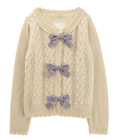 Add contrasting bows to a sweater