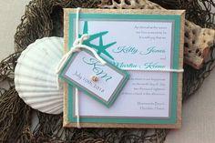 Wedding Invitations Beach Destination Tiffany by AlexandriaLindo, $7.00