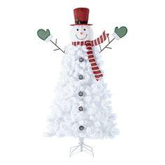 Christmas tensil decoration tops 2m snowy tree white tip black festival Craft