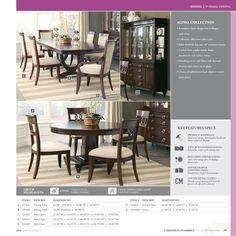 COASTER 105441-105442 ALYSSA TRESTLE DINING TABLE SET | Dazillion