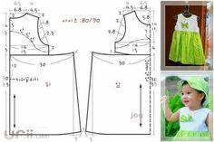Vestidos para niñas y bebes con moldes01