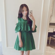 Get this look: http://lb.nu/look/8343458  More looks by Pumkin Nan: http://lb.nu/pumkinnan  Items in this look:  Pumkinnan Chiffon Shoulder Dress   #cute #hot #sexy #streetstyle