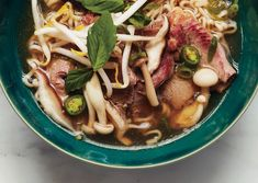 Faux Pho by Bon Appetit.i love pho! Quick Recipes, Asian Recipes, Soup Recipes, Cooking Recipes, Healthy Recipes, Ethnic Recipes, Healthy Lunches, Healthy Eats, Cooking Tips