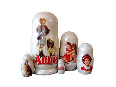 Matryoshka Annie. 5 Piece Nesting Doll от bessershop на Etsy